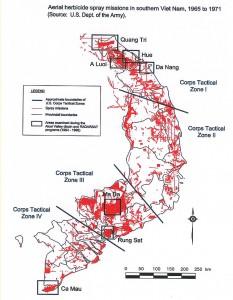Fig.2 - Missioni aeree con irrorazioni di erbicidi tra il 1965 e il 1971